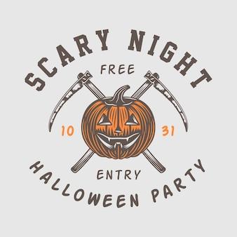 Vintage retro halloween-logo