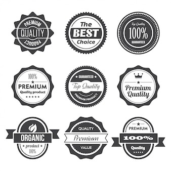 Vintage retro labels en tags ingesteld