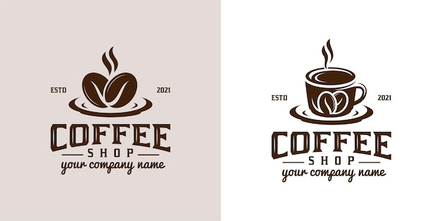 Vintage retro logo's en klassieke coffeeshop
