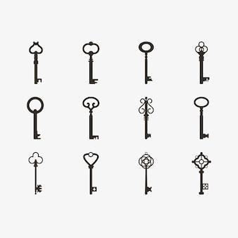 Vintage retro oude sleutels