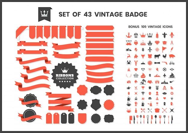 Vintage retro vector voor banner