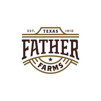 Vintage retro western label typografie logo-ontwerp