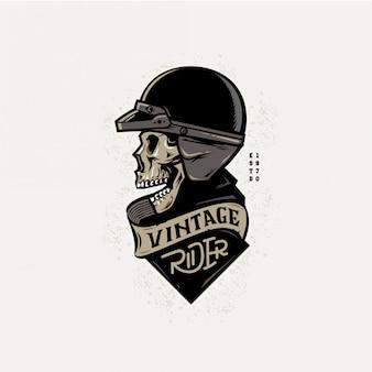 Vintage rider-badgeontwerp