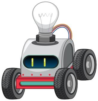 Vintage robot auto speelgoed met gloeilamp