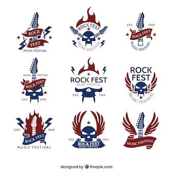 Vintage rock logo collectie