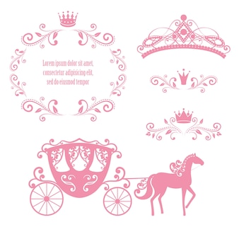 Vintage royalty frame met kroon