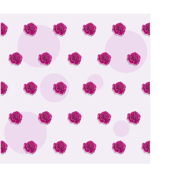 Vintage roze bloemen naadloos patroon