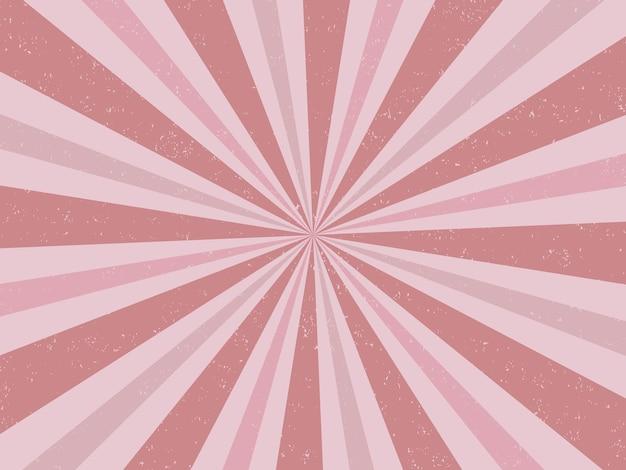 Vintage roze burst-achtergrondkleur