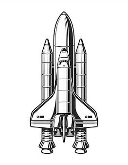 Vintage ruimteschip concept