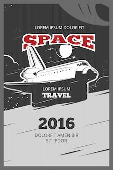 Vintage ruimtevaart vector poster