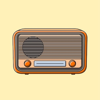 Vintage schattige radio cartoon afbeelding