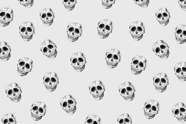 Vintage schedel patroon achtergrond