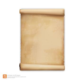 Vintage scroll papier