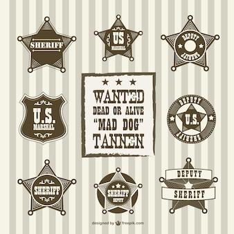 Vintage sheriff afgevaardigde badges