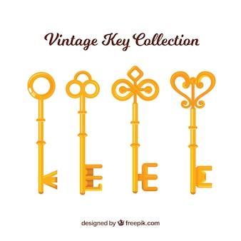 Vintage sleutelcollectie