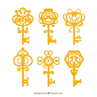 Vintage sleutelscollectie