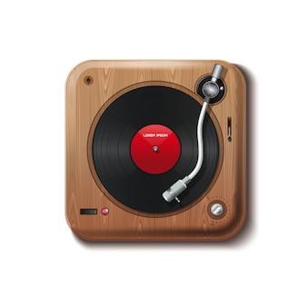 Vintage speler vinyl.