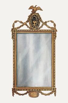 Vintage spiegel vectorillustratie, opnieuw gemengd van het kunstwerk door nicholas gorid en frank wenger.