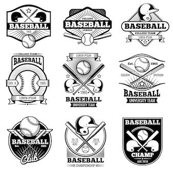 Vintage sport logo ontwerp