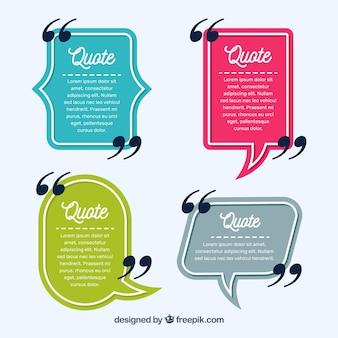 Vintage spraakbellen voor zinnen