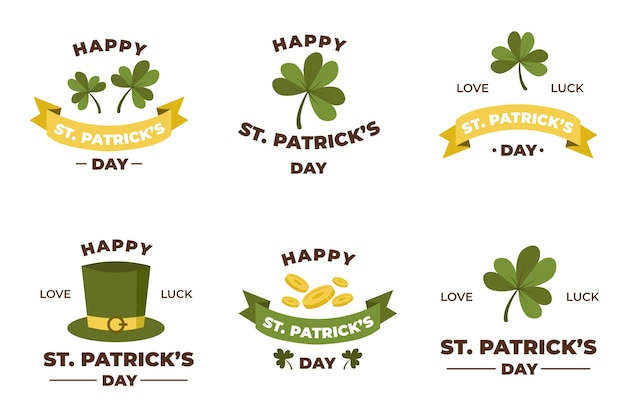Vintage st. patrick's day labelcollectie