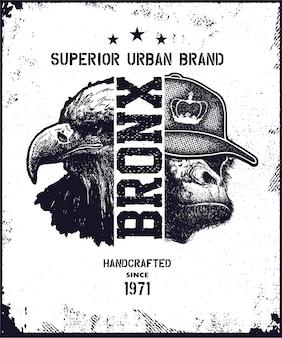 Vintage stedelijke typografie illustratie