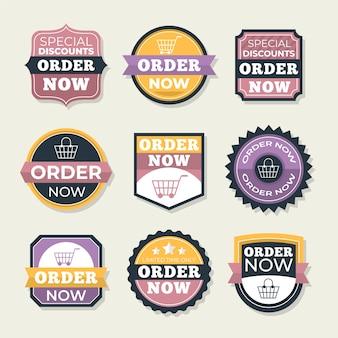 Vintage stickers van bestelling nu promotie