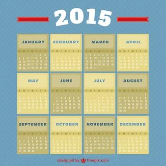 Vintage stijl 2015 calendar
