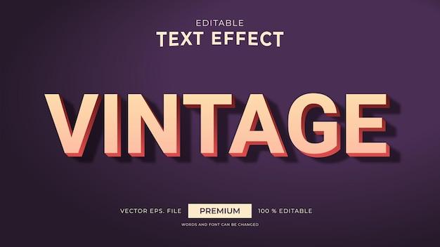 Vintage stijl bewerkbare teksteffecten