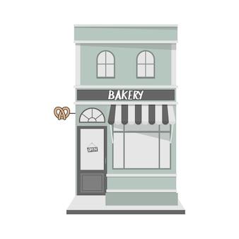 Vintage stijl gevel met bakkerswinkel aan de voorkant.
