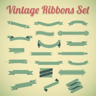 Vintage stijl linten collectie.