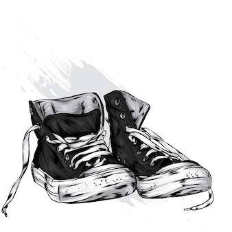 Vintage stijlvolle sneakers
