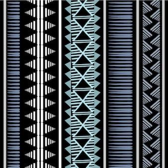 Vintage strepen afrikaans stammenpatroon