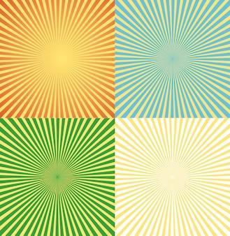 Vintage strips achtergrond instellen ray light
