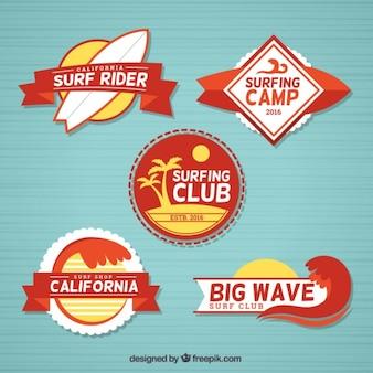 Vintage surf label collectie
