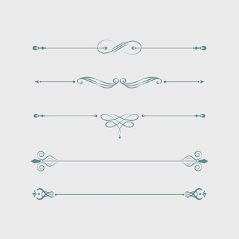Vintage swirl ontwerpelementen