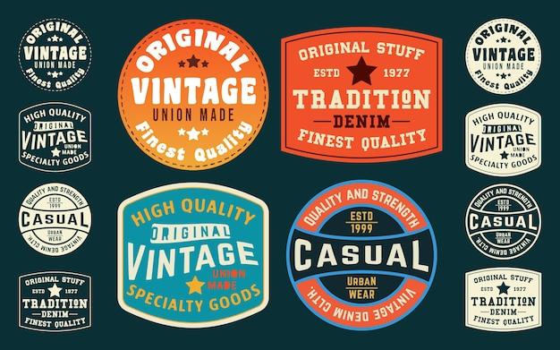 Vintage t-shirt typografie ontwerp tag