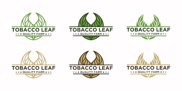 Vintage tabaksbladlogo, logoverwijzing voor tabaksboerderij
