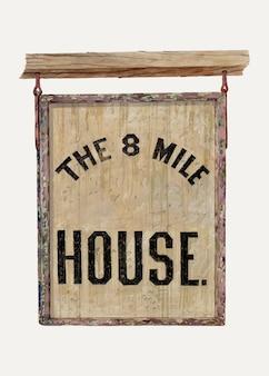 Vintage taverne teken illustratie vector, geremixt van het kunstwerk door ej reynolds