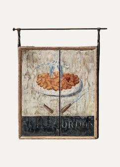 Vintage taverne teken illustratie vector, geremixt van het kunstwerk door john matulis