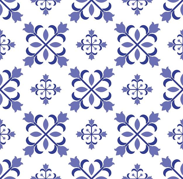 Vintage tegel naadloos patroon ontwerp