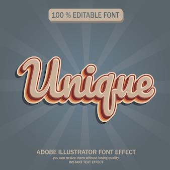 Vintage tekst, bewerkbaar lettertype-effect