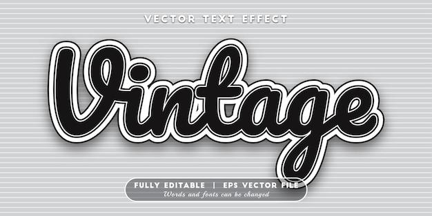 Vintage teksteffect, bewerkbare tekststijl