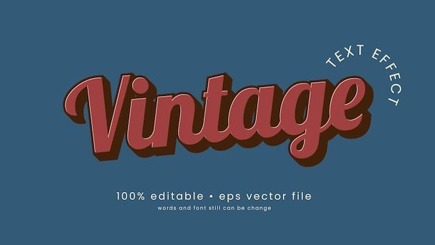 Vintage teksteffect ontwerp