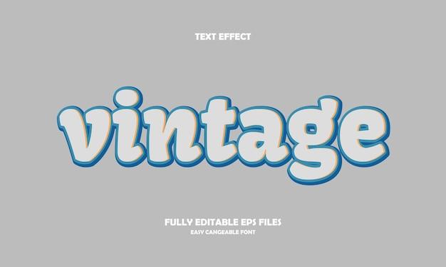 Vintage teksteffect
