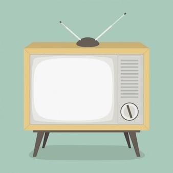 Vintage televisie ontwerp