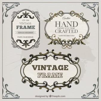 Vintage template frames