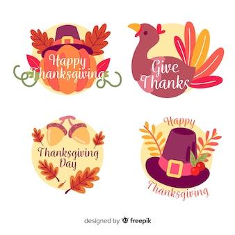 Vintage thanksgiving badge collectie