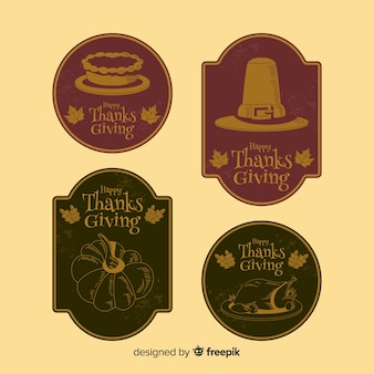 Vintage thanksgiving badge collectie