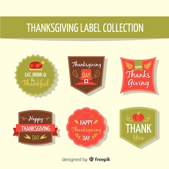 Vintage thanksgiving day label collectie